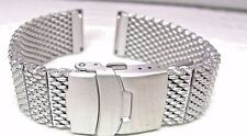 HADLEY ROMA 24MM SHARK STAINLESS STEEL MESH BRACELET REPLACEMENT FOR Swiss