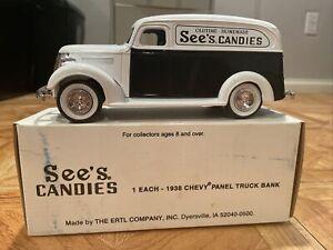 Ertl 1938 Chevy Panel Truck Piggy Bank Chevrolet With Box
