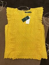 Brand New With Tags Genuine Ralph Lauren Raffle Yellow Top Size XL 12-14. £135