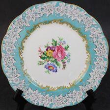 VTG Royal Albert Enchantment Pink Rose Turquoise Border Porcelain Salad Plate