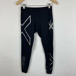 2XU Mens Compression Leggings Size Medium Black Elastic Waist Drawstring