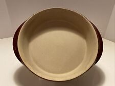 "Pampered Chef Family Heritage Stoneware 8.5"" Round Cranberry Baker - UNUSED"