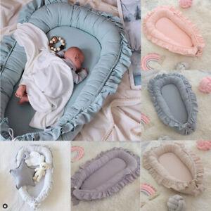 UK Newborn Baby Pod Nest Ruffle Cocoon Bed Sleep Cushion Sleeping Mat Sleepyhead