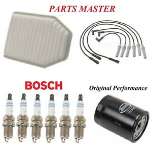 Tune Up Kit Air Oil Filters Spark Plugs Wire For JEEP WRANGLER V6;3.8L 2007-2011