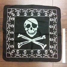 Black/White PIRATES SKULL Square BANDANA Headband Neckscarf BIKE GOTH PUNK UK