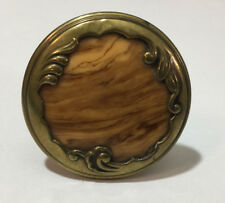 Antiker Möbelknauf Historismus ca: 1900 Schubladenknauf Holz- und goldfarben