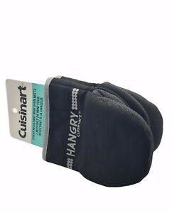 Cuisinart Mini Oven Gloves Mitts Black Heat Resistant Non-slip L/Right Hand Use