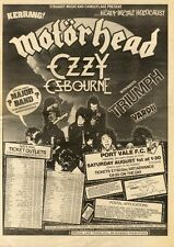 18/7/81PN31 POSTER ADVERT 15X11 KERRANG HEAVY METAL HOLOCAUST CONCERT AT PORT VA