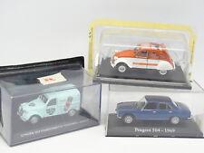 Ixo Presse 1/43 - Lot de 3 : Citroen 2CV Spot et Leroux  - Peugeot 504