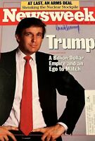 RARE SIGNED Donald Trump Newsweek Magazine Cover. Hand-Signed Full Autograph