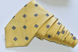 """Jos. A. Bank Yellow   Men's Neck Tie W: 3 1/2 """" by L: 61 """" MADE IN CHINA"""