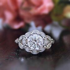 Color Engagement Ring Sterling Silver 7 Size New listing Moissanite 0.69 Ct Round Cut White