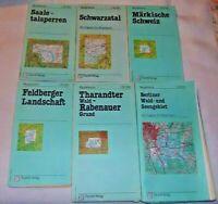 Saale-Talsperren Schwarzatal Märkische Schweiz Feldberger Berlin Wanderkarte DDR