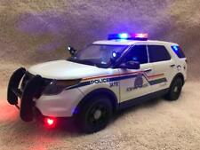 1/18 SCALE RCMP POLICE DIECAST FORD EXPLORER SUV UT  WITH WORKING LIGHTS/SIREN