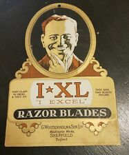 "VINTAGE IXL ""EXCEL"" WOSTENHOLM RAZOR BLADES KNIFE SHOP SIGN! STIDHAM ESTATE"