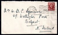 GB KGV Paquebot posted at sea cover Marseille CDS WS11686