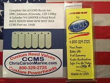 CCMS OMC Johnson Evinrude Racing Outboard Reed Valves V4 120-140hp Looper PN146R