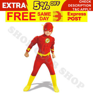 Flash Kids Superhero Costumes Boys Halloween Birthday Party Gift MUSCLE Outfit