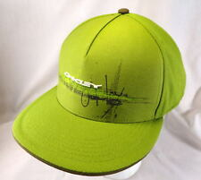 Oakley Hat Cap Fitted Green With Brown Under Bill  L 7 5/8, 61cm Flat Bill