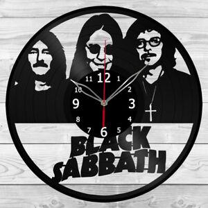 Vinyl Clock Black Sabbath Vinyl Record Wall Clock Home Art Decor Handmade 5160
