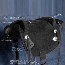 Bareback Pad Saddle Western Baretek Horsemanship Treeless Leather Black U-P201