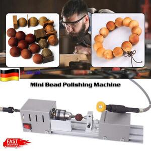 100W 24V Mini Drehmaschine Drechselbank Perlen Poliermaschine DIY Werkzeug EU