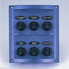 #MARINE BOAT 6 GANG SPLASHPROOF SWITCH PLASTIC PANEL IP65