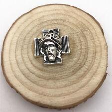 2pcs Jesus Cross Charm Tibetan Silver Tone Pendant  Charms Pendants 23x22mm