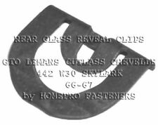 66-67 ( FITS: PONTIAC BUICK OLDS CHEVY )  REAR GLASS REVEAL MLDG CLIPS 25