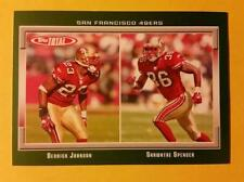 DERRICK JOHNSON - SHAWNTAE SPENCER * RC ROOKIE #396 SF 49ers 2006 TOPPS TOTAL