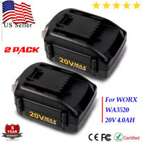 2X4.0A WA3525 WA3520 20V MAX Lithium Extend Battery for WORX WG163 WG151s WG251s