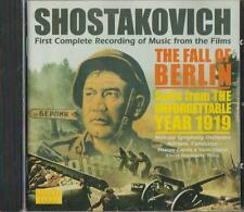 C.D.MUSIC  D742 SHOSTAKOVICH :THE FALL OF BERLIN ,THE UNFORGETTABLE YEAR 1919 CD