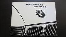 Mode d'emploi BMW autoradio BAVARIA C II stand 1989