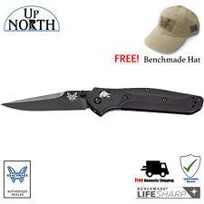 Benchmade 943BK Osborne Black Aluminum Handle Knife S30V Black Blade FREE HAT