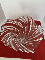 Mikasa Belle Epoque Glass Crystal Large Footed Centerpiece Bowl STUNNING! EUC