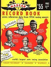 Vintage 1955 NASCAR Record Book: 1954 Racing Season, NEW OLD STOCK / NOS (G0762)