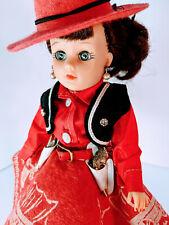 "10"" Uneeda Suzette Cowgirl Doll in Red w. Accessories"
