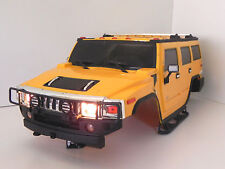 RADIOSHACK 1/10 HUMMER T H2 HARD BODY 4 SCALE ROCK CRAWLER, RC4WD, AXIAL,VATERRA