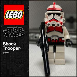 GENUINE LEGO Star Wars Minifigure Clone Trooper Ep. 3 Shock Trooper SW0091 7655