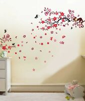 Wall Sticker Mural Decal Paper Art Decoration Monkey Tree Blossom Family Flower