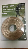 50' FT 16 Ga GAUGE HIGH QUALITY AWG SPEAKER WIRE CAR HOME AUDIO New