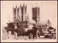 Vintage Cathedral Lincoln England Gothic Architecture Photo Photogravure Print