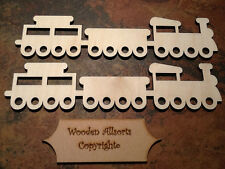 2x Wooden Birch Ply Train Shapes. 220 x 50mm. Craft or Embellishments