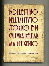 BOLLETTINO IST.STORICO/CULTURA ARMA DEL GENIO#Anno XIX - N.1/2#Gen./Apr. 1953