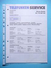 Service Manual-Anleitung für Telefunken RC 775/HP 105 ,ORIGINAL