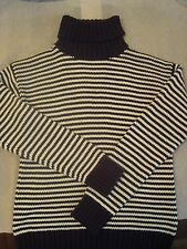 NWT Juicy Couture Dial/Peck Stripe Turtleneck Sweater Sz M