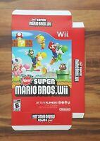 Super Mario Bros Wii Store Display Marketing Box 2009 Nintendo Video Game Promo