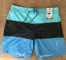 NWT $55 Size XXL Men's Swim Trunks shorts Swimsuit FREE COUNTRY blue 2XL QUICK