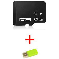 2pcs 32GB Micro SD TF Flash Memory Card SDHC Class 10 +Card Reader Hot sale