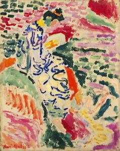 Henri Matisse La Japonaise Woman Beside The Water Giclee Canvas Print Poster